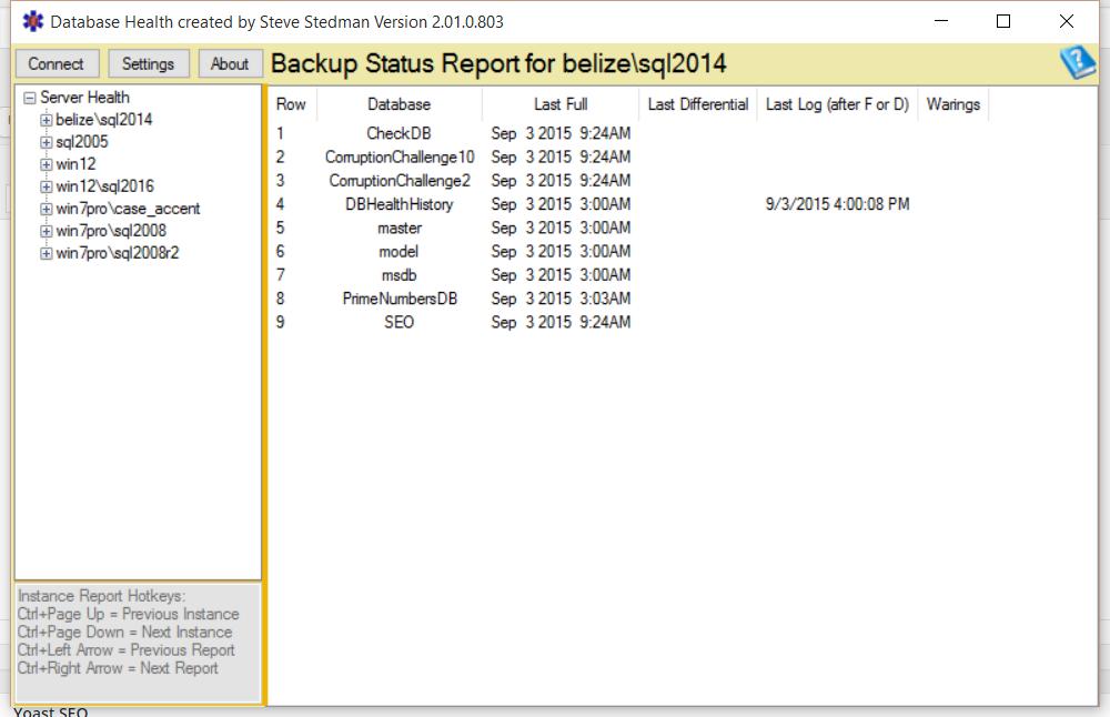 Backup Status Report Good