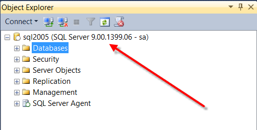 SQL Server 2005 Version Numbers