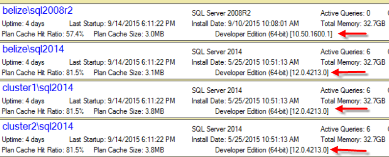 SQL Server 2008R2 Version Numbers